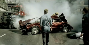 Broken (Lifehouse song) - Lifehouse lead singer Jason Wade looks on the scene of a deadly car crash.