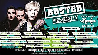 Pigs Can Fly Tour 2016 - Image: Busted The Tour 2016