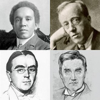 Royal College of Music - Early RCM pupils included (clockwise from top left) Coleridge-Taylor, Holst, Vaughan Williams and Ireland