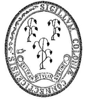 Seal of Connecticut - Seal of the Colony of Connecticut (1711-1784)
