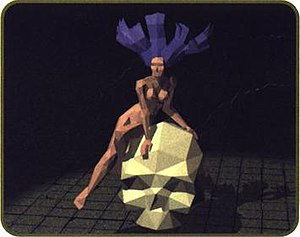 Castlevania (1999 video game) - A model of Camilla, a recurring ''Castlevania'' villain, in an early development screenshot.