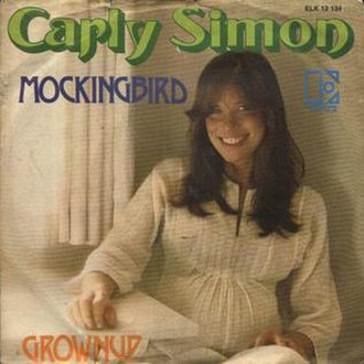 Mockingbird (Inez & Charlie Foxx song) - Image: Carlysimonmockingbir d
