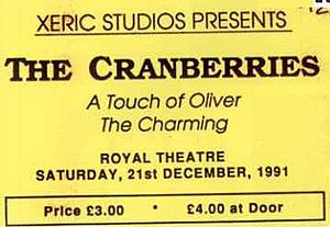 Scan of Cranberries concert ticket, owned by me.