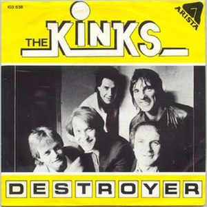 Destroyer (The Kinks song) - Image: Destroyer cover