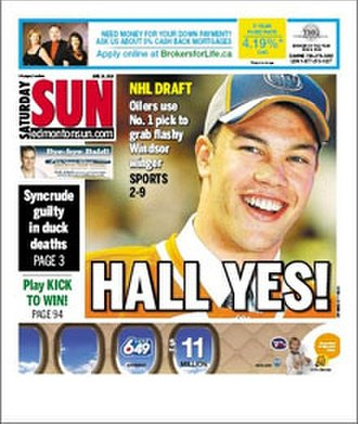 Edmonton Sun - The Edmonton Sun cover from June 26, 2010.