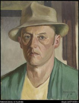 Edouard Borovansky - Self-portrait by Edouard Borovansky,1948, oil on board, 45.7 x 36 cm, National Library of Australia, Australia