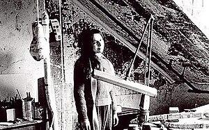 Eva Hesse - Eva Hesse in her studio in 1965.