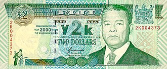 Fijian dollar - Commemorative two-dollar banknote for 2000