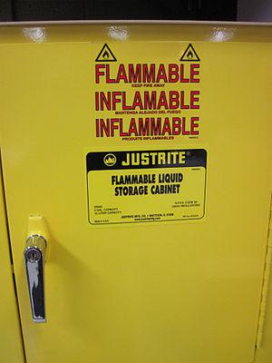 Auto-antonym - Image: Flammablecabinet