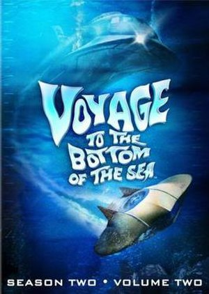 Voyage to the Bottom of the Sea (TV series) -  DVD cover art of the 2nd season (Vol. 2) of Voyage to the Bottom of the Sea featuring depictions of Seaview and the Flying Sub (bottom)