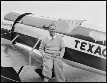Frank Hawks - famous flier at East Boston Airport 1930