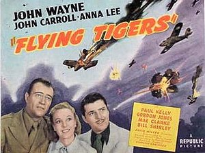 Flying Tigers (film) - Theatrical release half-sheet display poster