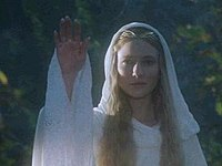 Blanchett portrays Galadriel in The Lord of the Rings film trilogy