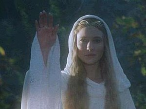 Cate Blanchett portrays Galadriel in The Lord ...