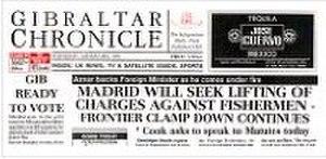 Gibraltar Chronicle - Image: Gibraltar Chronicle small