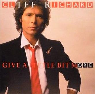 Silver (Cliff Richard album) - Image: Give a Little Bit More album by Cliff Richard