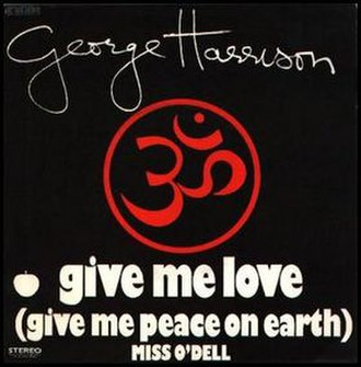 Give Me Love (Give Me Peace on Earth) - Image: Give Me Love (Give Me Peace on Earth) (George Harrison single cover art)