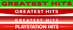 Greatest Hits (PlayStation) - Official banners used on PlayStation game covers