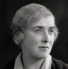 Black and white portrait photograph of Helen Archdale