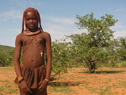A Himba teenager, north of Opuwo, Namibia