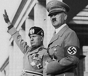 Dictator - Adolf Hitler (right), dictator of Germany from 1933 to 1945, and Benito Mussolini (left), dictator of Italy from 1922 to 1943.