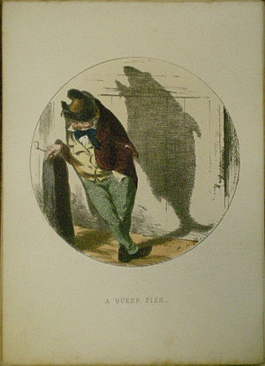 Charles H. Bennett (illustrator) - A Queer Fish, from the Shadows series
