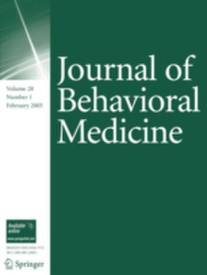 Journal of Behavioral Medicine - Image: Journal of Behavioral Medicine