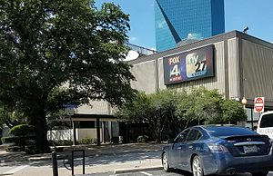 KDFI - Studio/office facilities of KDFI (and sister station KDFW) on North Griffin Street in downtown Dallas.