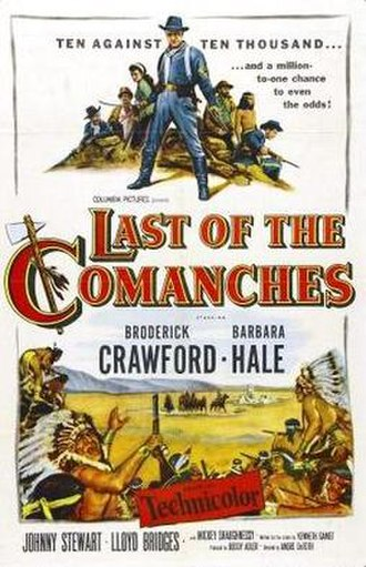 Last of the Comanches - Theatrical release poster