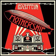 A black and red drawing of a zeppelin