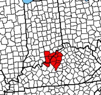 Louisville metropolitan area - Image: Louisville Metro Area