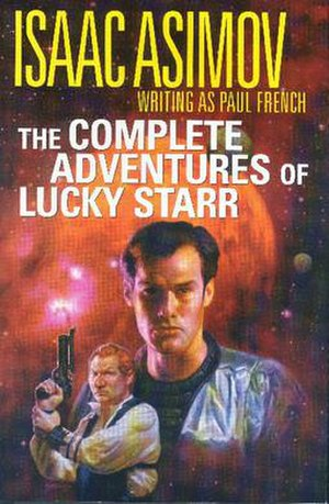 Lucky Starr series - Cover from the 2001 Science Fiction Book Club omnibus edition.