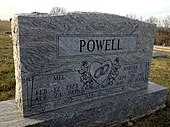 Gravesite of Martha Scott and husband Mel Powell in Jamesport, Missouri