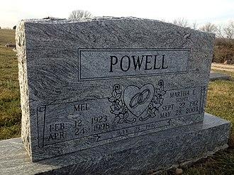 Mel Powell - Gravesite of Mel Powell and wife Martha Scott in Jamesport, Missouri.