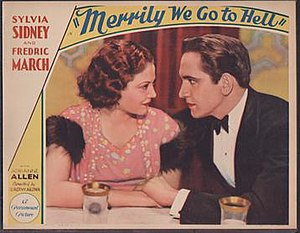 Merrily We Go to Hell - lobby card