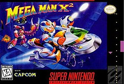 Mega Man X2 Box Art