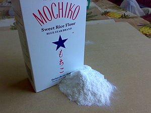 Rice flour - A box of sweet rice flour