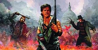 Freddy vs. Jason vs. Ash: The Nightmare Warriors - Cover illustration by Arthur Suydam