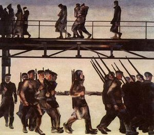 "Aleksandr Deyneka - ""The Defense of Petrograd"", 1928"