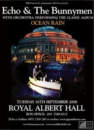 Ocean Rain - The poster used to advertise the Royal Albert Hall concert