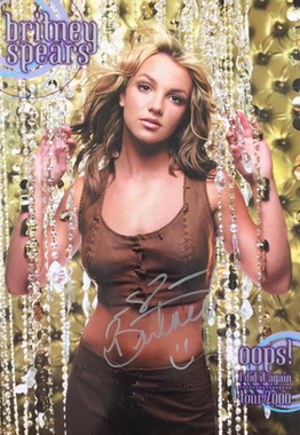Oops!... I Did It Again Tour - Promotional poster for the tour autographed by Spears