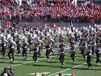 Ohio State University Marching Band - The band during pregame.