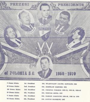 Western Eagles FC - Club Presidents 1950–1970