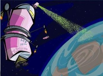 """Spy Fox 3: """"Operation Ozone"""" - Poodles' aerosol can shaped space station"""