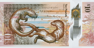 The Royal Bank of Scotland £10 note - Image: RBS Polymer £10 Back