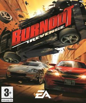 Burnout Revenge - European box art.