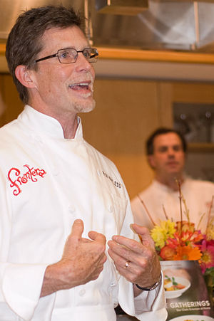 Rick Bayless - Chef Rick Bayless giving a cooking demonstration at Macy's in downtown San Francisco in January 2008.