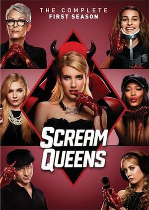 Scream Queens (season 1) - Promotional poster and home media cover art