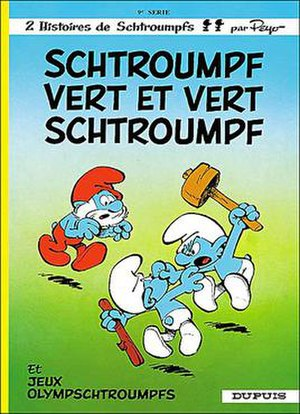 Schtroumpf Vert et Vert Schtroumpf - Cover of the French edition