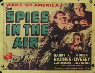 <i>Spies of the Air</i> 1939 film by David MacDonald